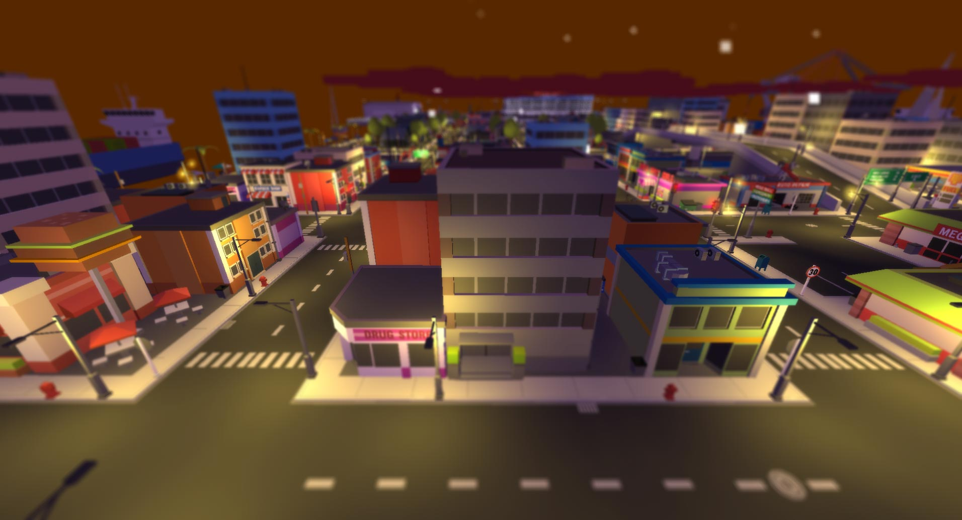 Low-poly City