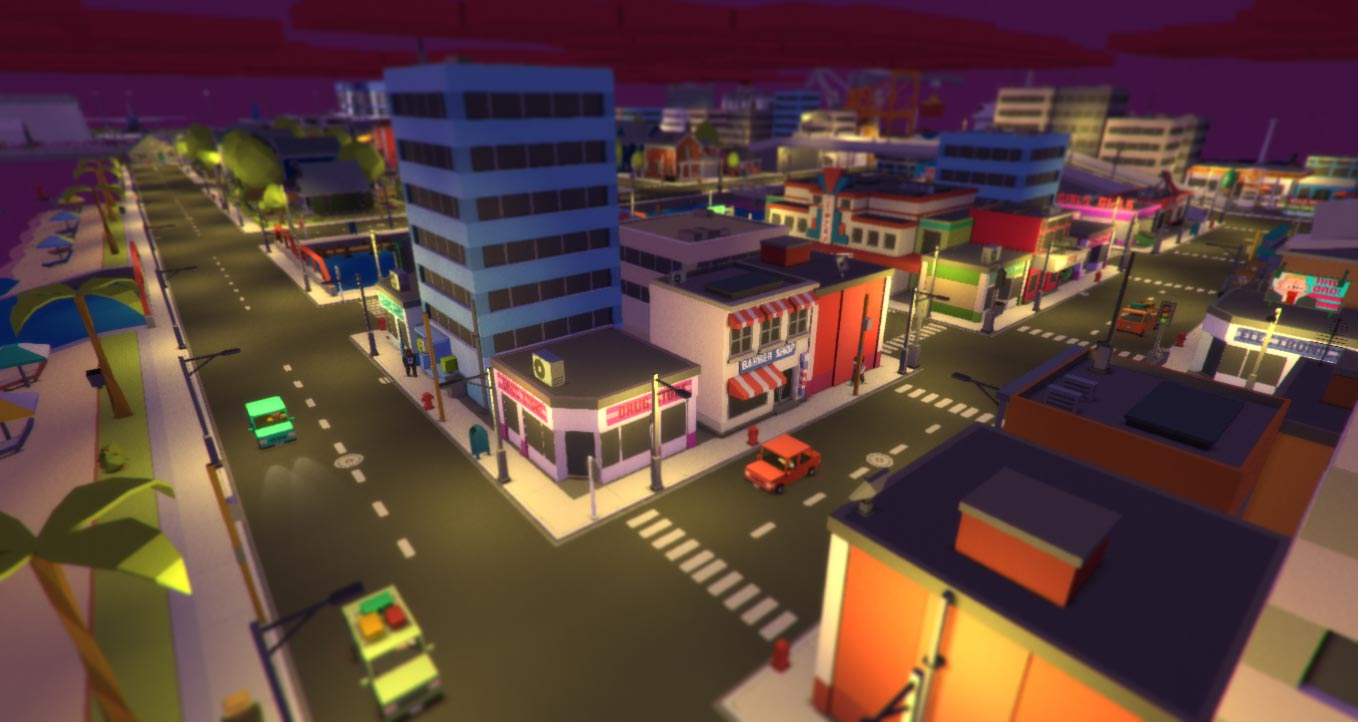 Low-poly City Scene